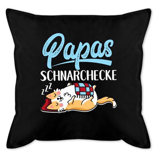 Shirtracer Dekokissen »Papas Schnarchecke - weiß/blau - Vatertagsgeschenk Kissen - Bedrucktes Kissen mit Füllung - Kissen«, vatertagsgeschenk kissen