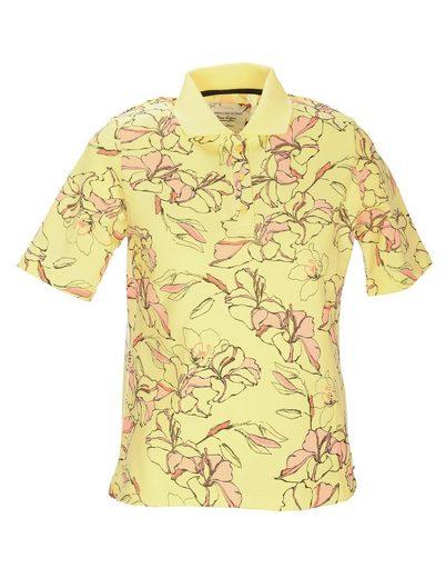 Clarina Poloshirt »PIMA COTTON« mit floralem Druck-Allover-Print