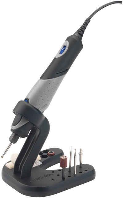 DREMEL Feinbohrschleifer »2050-10 Stylo+«, 9 W, 65 hochwertige Dremel-Zubehöre in der Mini-Zubehörbox (einschließlich EZ SpeedClic-Starter-Set), biegsame Welle, Gerätesteg in Stiftform, Parallel- und Kreisschneider, Modellierungstisch Vorsatzgerät, Präzisionshandgriff, Bedienungsanleitung, geräumiger und stabiler Tragekoffer mit einem herausnehmbaren Zubehöreinsatz, inklusive einzigartigem Werkzeughalter für eine komfortable Aufbewahrung Ihres Werkzeugs, Kreativ-Set, 9W