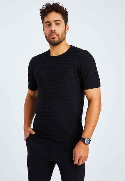 Leif Nelson T-Shirt »Herren T-Shirt Feinstrick Rundhals LN-7665«
