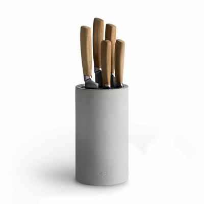 Springlane Messerblock »Beton«, Universal Messerhalter inkl. Messerset 5-tlg.