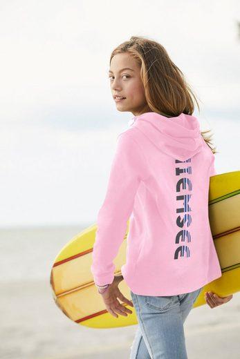 Chiemsee Langarmshirt mit Logodruck auf dem Rücken