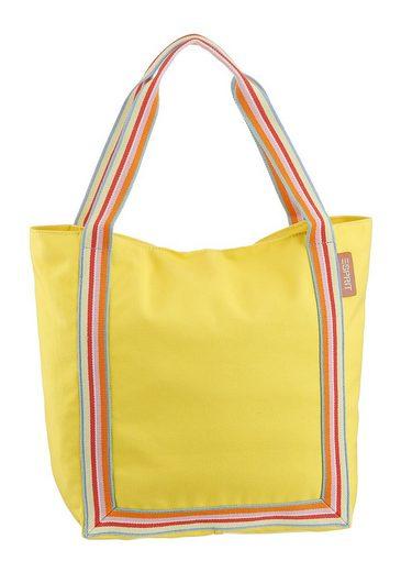 Esprit Shopper »Darlene Shp«, In schicker Farbkombi mit bunt abgesetzter Streifenapplikation