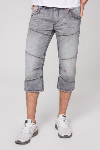 CAMP DAVID Jeansbermudas mit tief sitzenden Gesäßtaschen