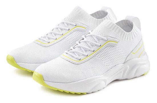 LASCANA Sneaker bequem zum Reinschlüpfen aus ultraleichtem Mesh-Material