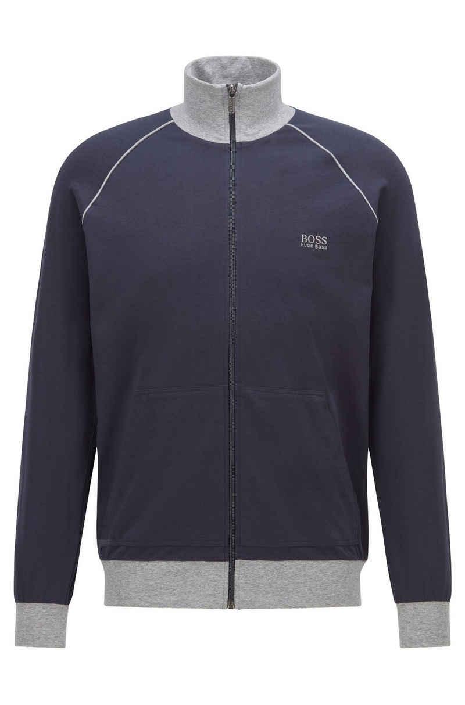 Boss Sweatjacke »Regular-Fit Loungewear-Jacke aus elastischer Baumwolle« (1-tlg)