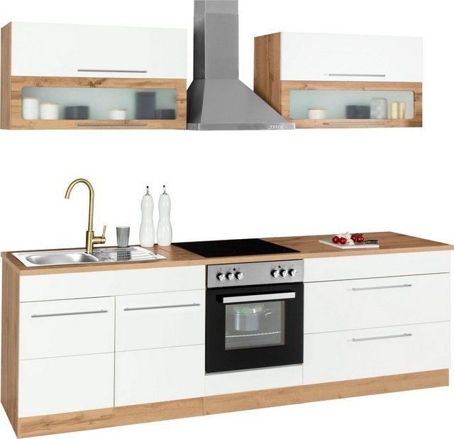 Einbauküchen - HELD MÖBEL Küchenzeile »Wien«, mit E Geräten, Breite 260 cm  - Onlineshop OTTO
