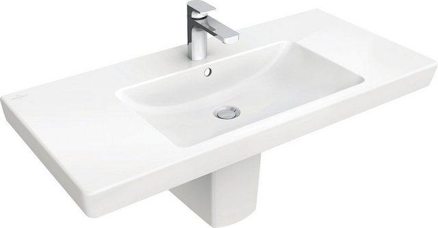 Waschtische - Villeroy Boch Waschbecken »Subway 2.0«, mit Hahnloch und Überlauf  - Onlineshop OTTO