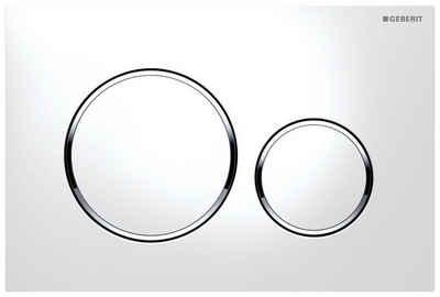 GEBERIT Betätigungsplatte »Sigma 20«,2-Mengen-Spülung, (2 tlg), für 2-Mengen-Spülung weiß/chrom