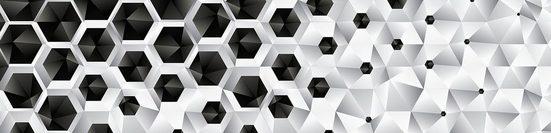 Consalnet Bordüre »3D SECHSECKE«, grafisch, 250 x 60 cm