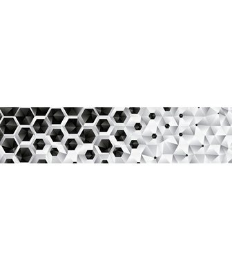 Consalnet Bordüre »3D SECHSECKE« grafisch 250 x ...
