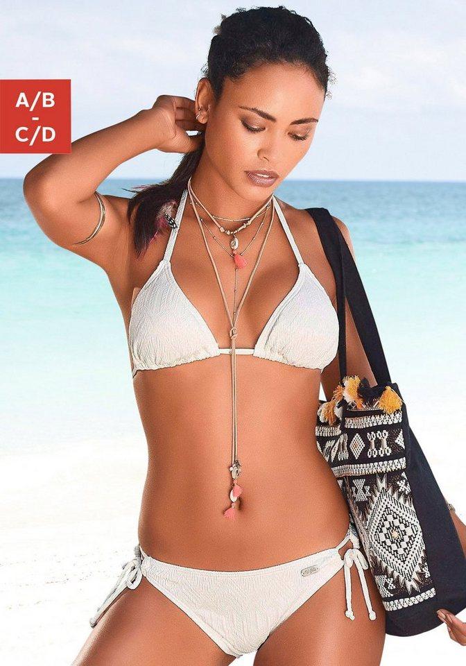 Bademode - Buffalo Triangel Bikini mit modischer Struktur › beige  - Onlineshop OTTO