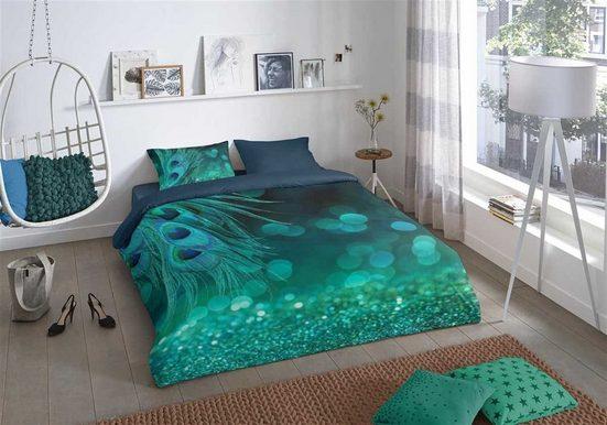 Bettwäsche »Peacock Green«, good morning, hochwertige Renforcé Qualität