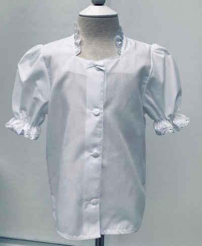 Pezzo D'oro Dirndlbluse »Dirndlbluse Kinder, Kinderbluse weiß, Dirndlbluse mit Spitze, vorne geknöpft,«