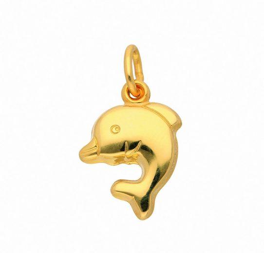 Adelia´s Kette mit Anhänger »333 Gold Anhänger Delphin - Set mit Halskette«, 333 Gold Goldschmuck für Damen