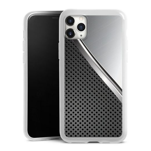 DeinDesign Handyhülle »Duo Metal Surface« Apple iPhone 11 Pro Max, Hülle Carbon Metall Muster
