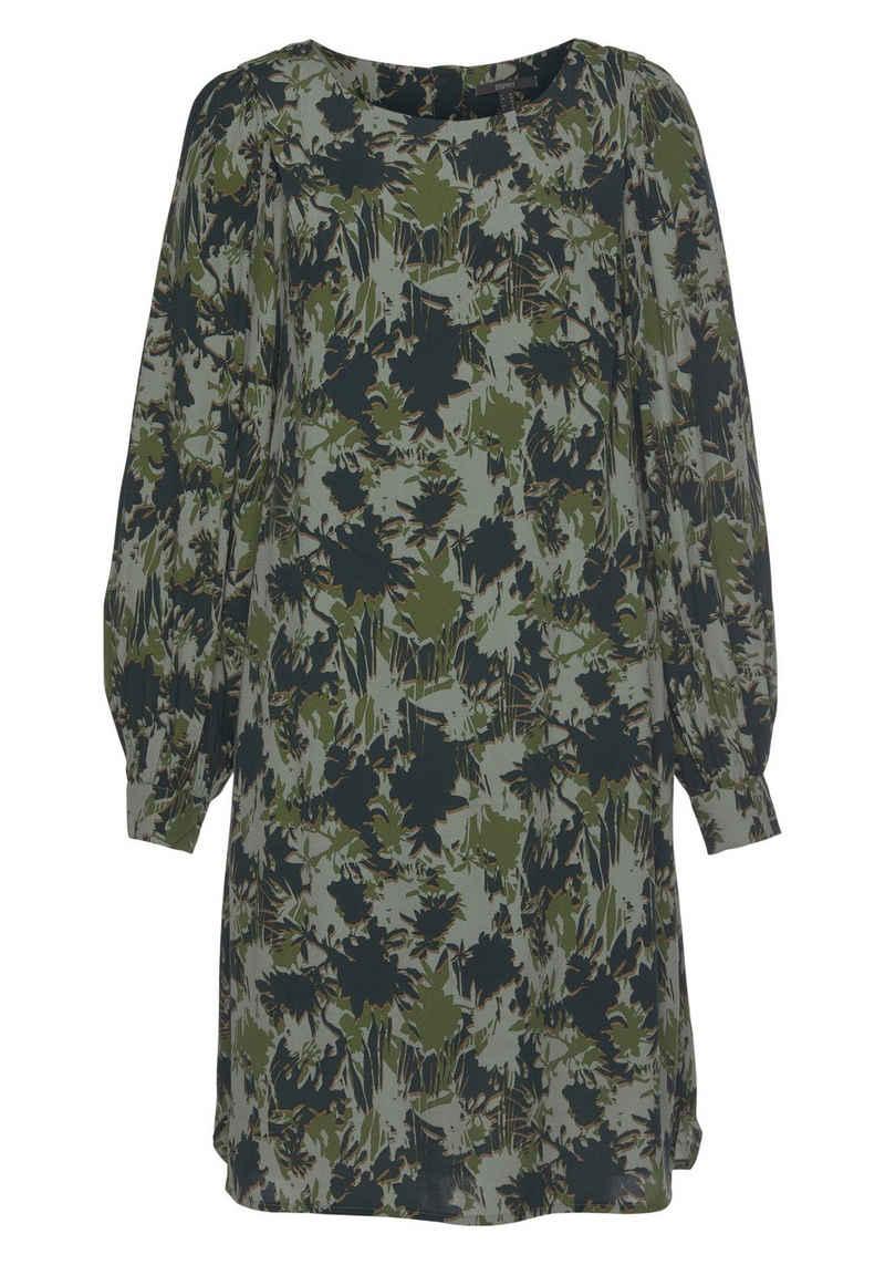 Esprit Collection Blusenkleid im tollen Alloverprint im Camouflage-Look