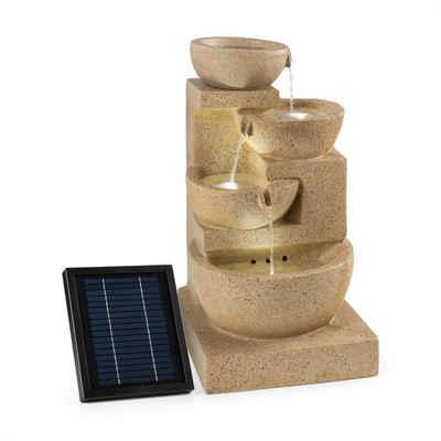 blumfeldt Wasserspiel »Korinth Zierbrunnen Gartenbrunnen 3W Solar LED Sandsteinoptik«, 39 cm Breite