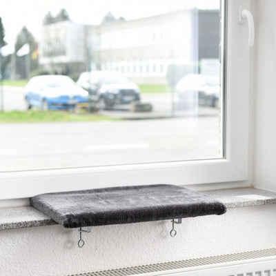 Canadian Cat Company Katzen-Hängematte »Snuggly Place Medium - anthrazit«, gepolsterte Liege - Aussichtsplattform für die Fensterbank