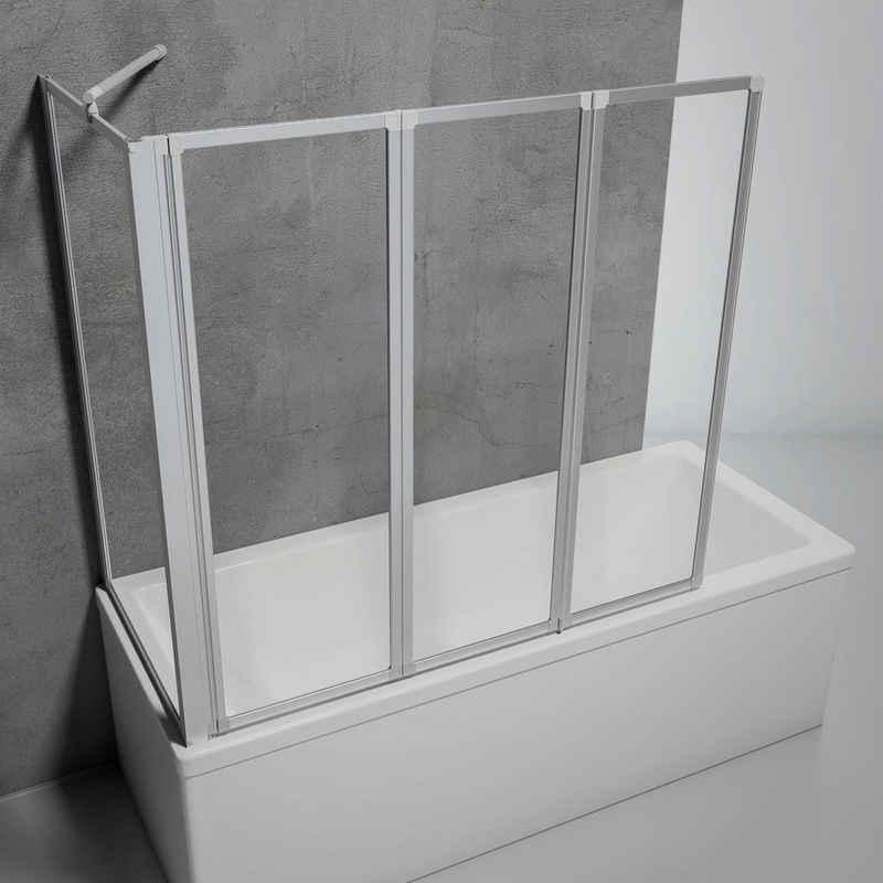 Schulte Badewannenaufsatz »Komfort«, Einscheibensicherheitsglas, (Komplett-Set, 3 tlg), BxHxT: 127 x 121 x 70 cm, zum Kleben oder Bohren
