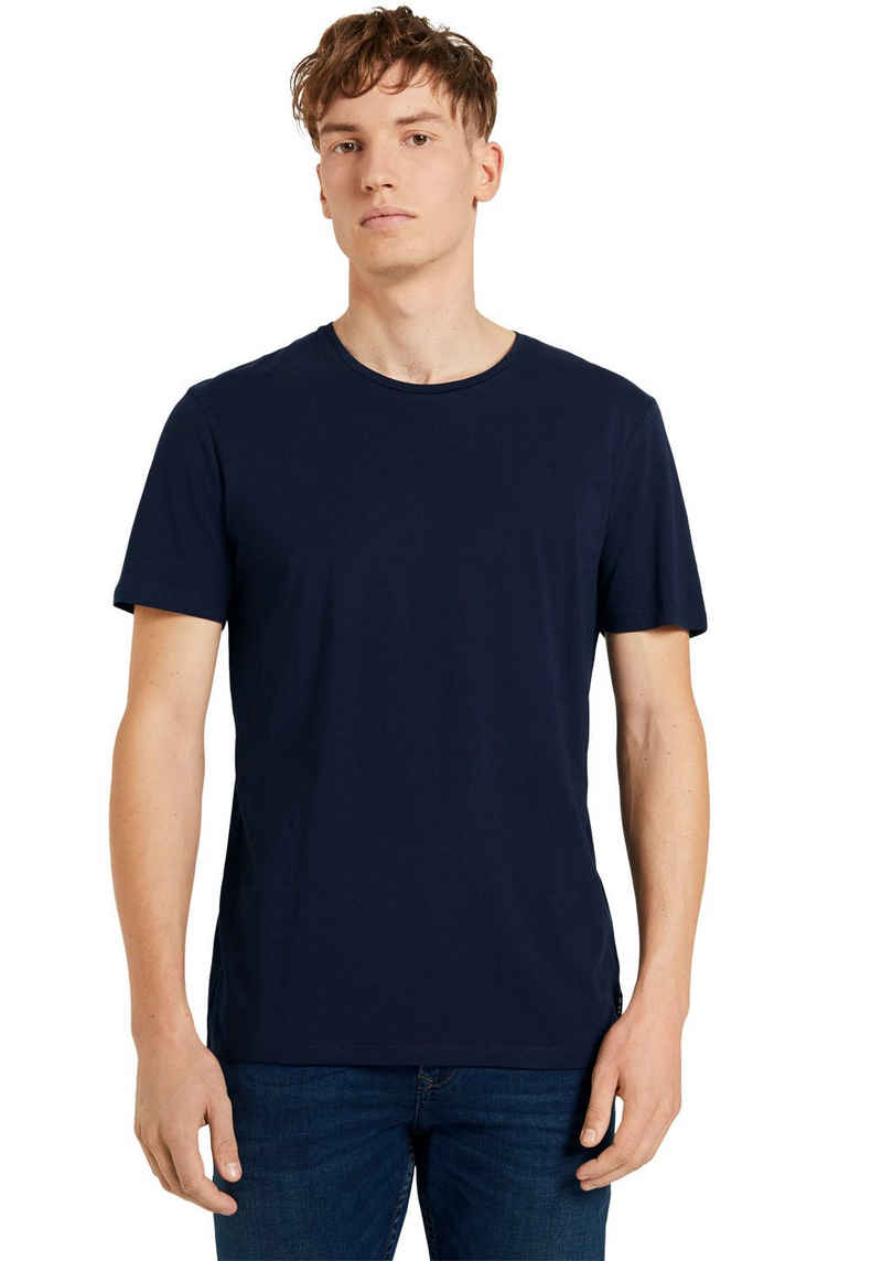 TOM TAILOR Denim T-Shirt mit Rundhals