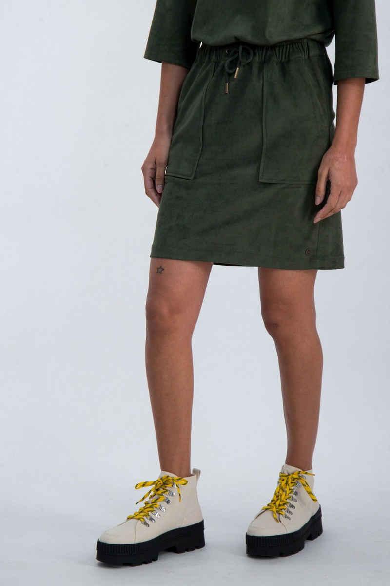 Garcia A-Linien-Rock »M00120 - 3297-olive green« aus Suedine Stoff