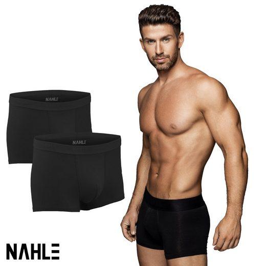 NAHLE Boxershorts »Enge Herren Baumwolle Unterhosen Männer Unterwäsche« (2 Stück) aus gekämmter Baumwolle, elastischer weicher Webbund
