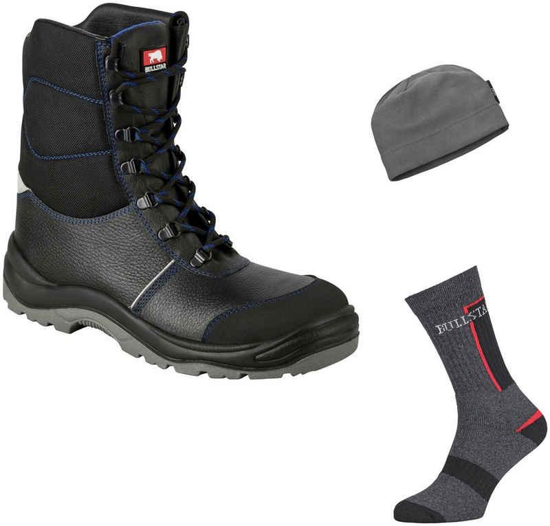 Bullstar Sicherheitsstiefel Winter-Vorteilspack mit Socken und Mütze, S3