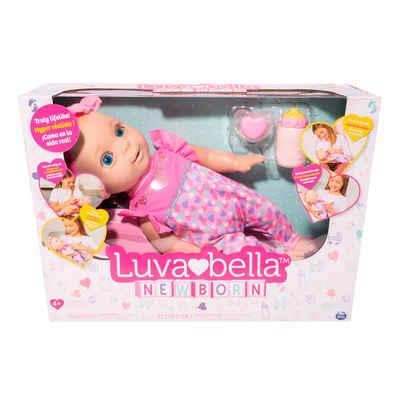 Spin Master Babypuppe »Luvabella NewBorn, interaktive 43 cm Puppe«, mit realistischer Mimik und Bewegungen, Atembewegung, Augenbewegung, Schnuller & Fläschen Funktion, kichert beim kitzeln