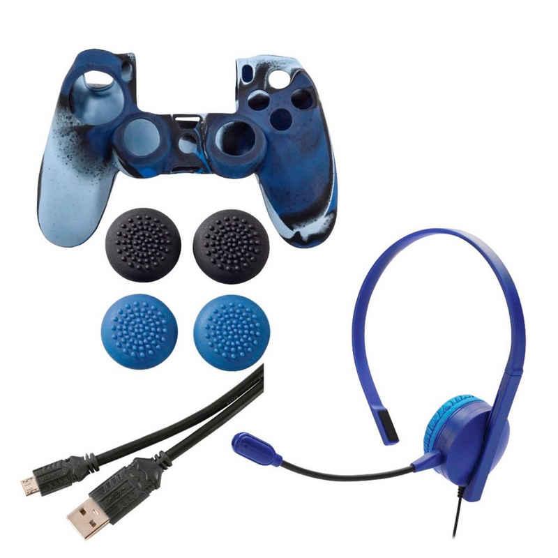 Hama »7in1 Controller Paket Headset für PS4« Gaming-Controller (Passend für Sony PlayStation 4 Controller)