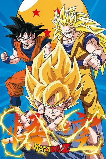 GB eye Poster »Dragon Ball Z - 3 Gokus Evo - Maxi Poster«
