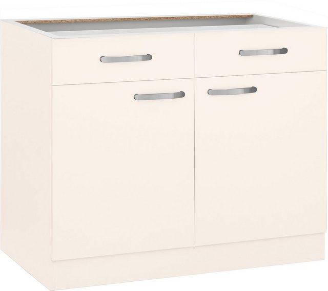 Küchenschränke - wiho Küchen Unterschrank »Kansas« 100 cm breit, ohne Arbeitsplatte  - Onlineshop OTTO