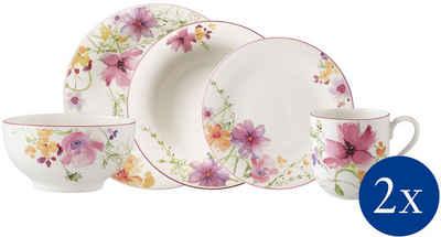 Villeroy & Boch Kombiservice »Mariefleur Basic Starter Set« (10-tlg), Porzellan, verspieltes Blütendekor