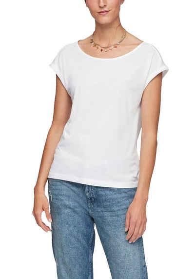 s.Oliver T-Shirt mit tollem Cut Out und Knoten-Detail im Rücken