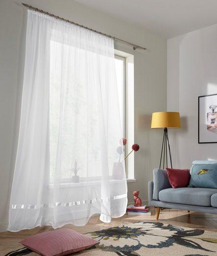 Gardine »Eby«, my home, Kräuselband (1 Stück), Vorhang, Fertiggardine, Store, transparent