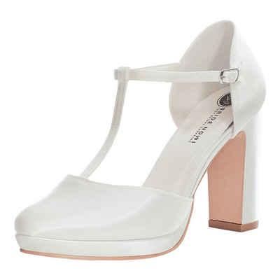 Bride Now! »Frauen Runde Kappe Strappy High Heels Pumpe/Gericht Hochzeit Elfenbein/Creme 10 cm Block Ferse Schuhe« High-Heel-Pumps