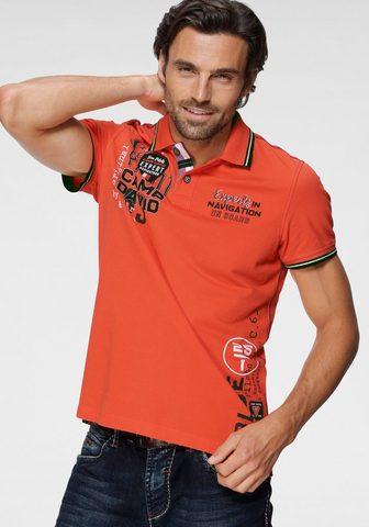 CAMP DAVID Polo marškinėliai su markanten Prints