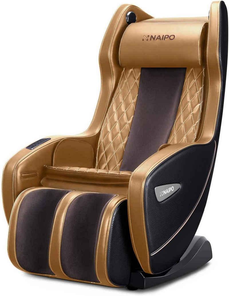 NAIPO Massagesessel »MGC-1900B, MGC-1900BE, MGC-1900BR«, Klopfen, Kneten, Bluetooth, S+L-förmige Design, Luft-Massage-System, Liegeposition Verfügbar, Platzsparend, Für Zuhause und Büro