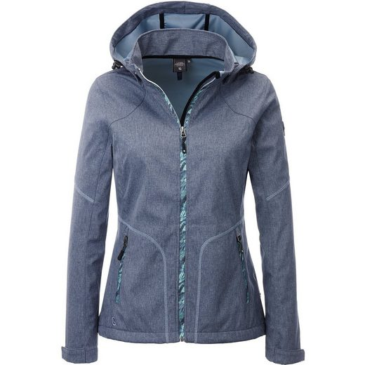 DEPROC Active Softshelljacke »SOUTH TWIN PEAK WOMEN« mit abnehmbarer Kapuze