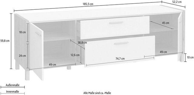 TV Möbel - FORTE TV Board, Breite ca. 185 cm  - Onlineshop OTTO