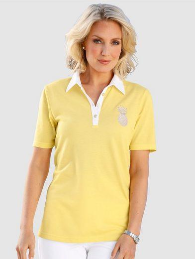 Paola Poloshirt mit Ananasstickerei