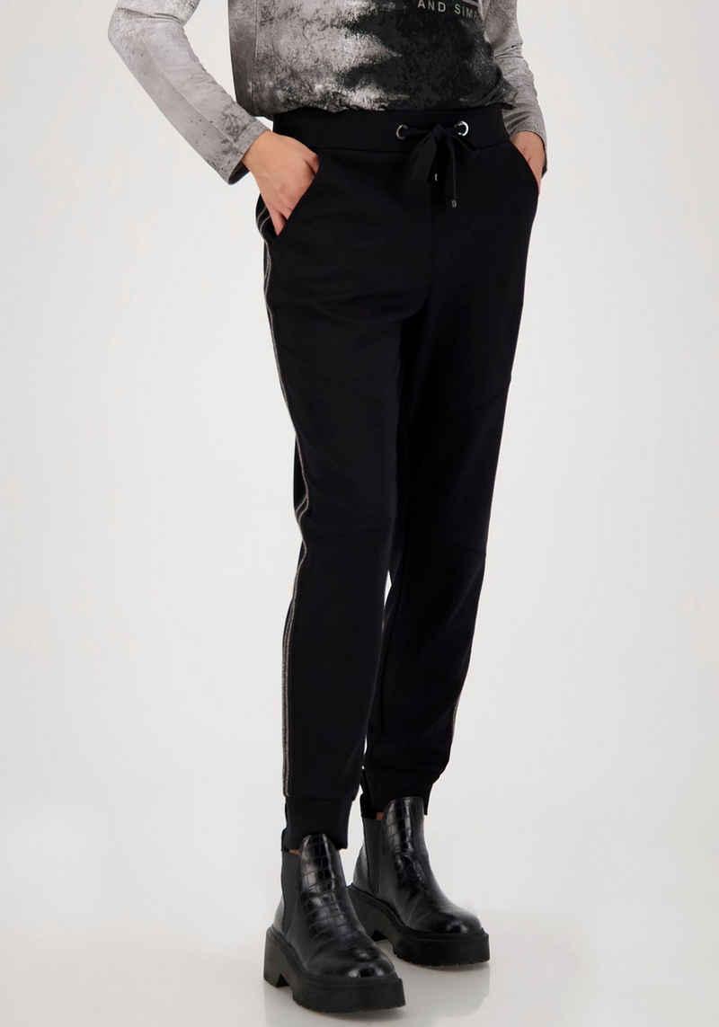 Monari Jogger Pants - Zierband mit Kettendetails an den Seiten