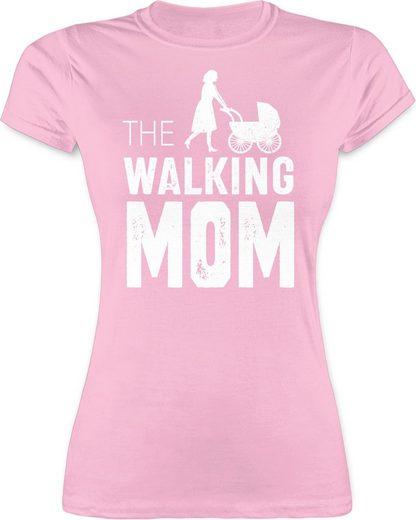 Shirtracer T-Shirt »The Walking Mom weiß - Muttertagsgeschenk - Damen Premium T-Shirt«