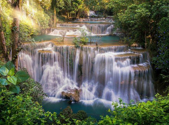 PAPERMOON Fototapete »Huay Mae Khamin Waterfall«, Vlies, in verschiedenen Größen
