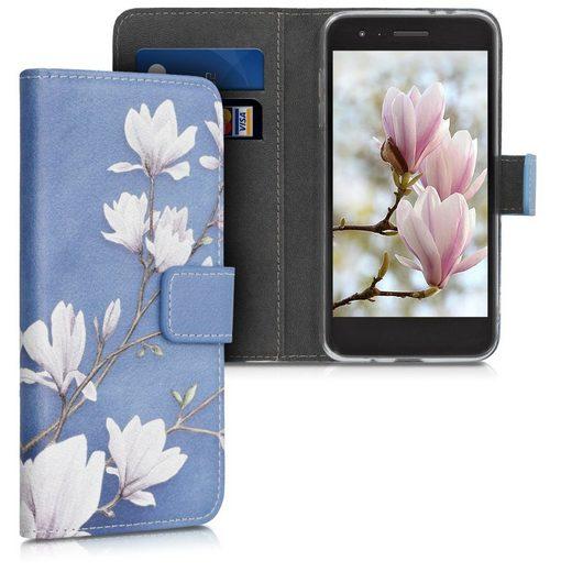 kwmobile Handyhülle, Wallet Case kompatibel mit LG K8 (2018) / K9 - Hülle mit Ständer Kartenfächer - Handyhülle