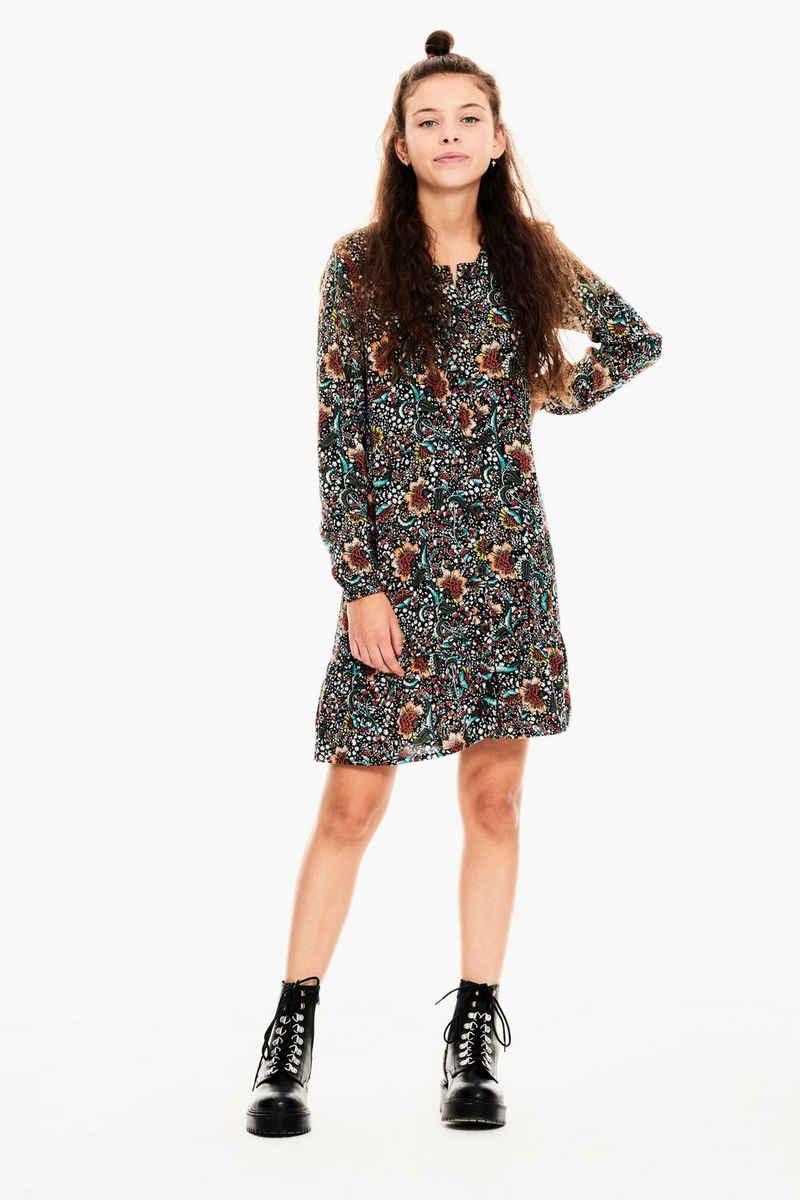 Garcia A-Linien-Kleid »A12481 - 1755-off black 1« mit allover Paisley-Print