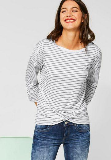 STREET ONE 3/4-Arm-Shirt mit Streifenmuster