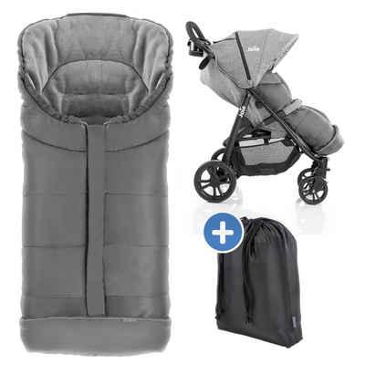 Zamboo Fußsack »Grau«, für joie Buggy & Sportwagen (passend für Litetrax, Mytrax, Chrome) Baby Winterfußsack für Kinderwagen