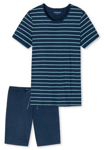 Schiesser Pyjama »Damen Schlafanzug Set kurz, 2-tlg. - Shorty,«