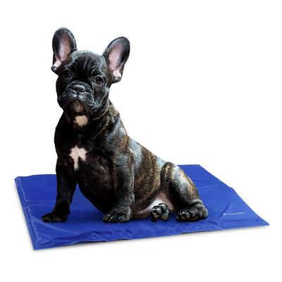 Navaris Hundematratze, Kühlmatte Hunde Katzen Haustiere - Matte zur Regulierung der Körpertemperatur - Selbstkühlendes Kühlkissen Pad